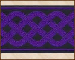wide ribbon knotwork wide 2 inch black purple jacquard ribbon fabric
