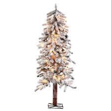 sterling 5 ft pre lit flocked alpine artificial tree