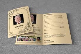 funeral program paper funeral program template t618 brochure templates creative market
