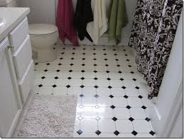 black and white tile floor and