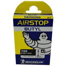 chambre à air butyl à air michelin airstop butyl 700x18 25 presta 52mm