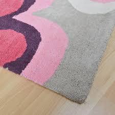 girls pink u0026 purple floral kids bedroom rug kukoon
