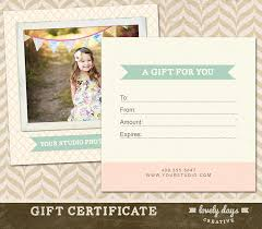 certificate free templates photography gift certificate template for professional
