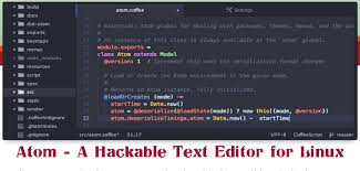 format file atom atom a hackable text and source code editor for linux