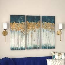livingroom paintings blue wall you ll wayfair