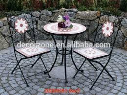 Iron Bistro Table Outdoor Ceramic Iron Bistro Garden Table Chair Set Wholesale Buy