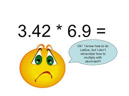 multiplying decimals decimal lattice multiplication