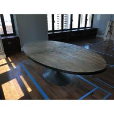 restoration hardware oval dining table restoration hardware aero reclaimed wood dining table chairish