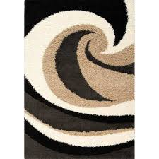 shaggy area rug with swirl pattern kalora interiors inc modern