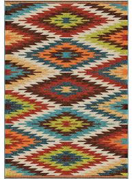 Veranda Living Indoor Outdoor Rug Orian Rugs Indoor Outdoor Aztec Sedona Multi Area Rug 5 U0027 2