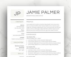 Resume Templates For Mac Also by Word Resume Template Etsy