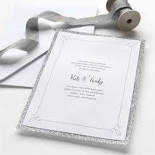 invitation kits silver glitter invitation 25ct gartner studios
