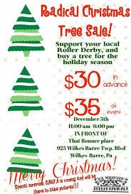 christmas tree on sale christmas tree sale wilkes barre scranton roller radicals