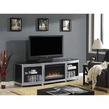 Infrared Quartz Fireplace by Gotham Tv Stand For Tvs Up To 80 Inch With 26 Inch Contemporary