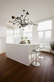 kitchen kitchen island with unique lamp of majestic white