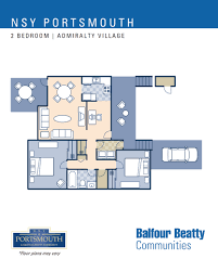 two bedroom townhouse floor plan nsy portsmouth u2013 admiralty village neighborhood 2 bedroom