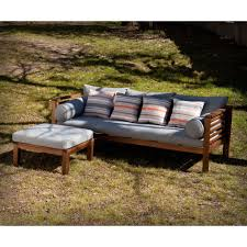 Eucalyptus Outdoor Table by Harper Blvd Drewer Grey Linen Eucalyptus Outdoor Sofa By Harper