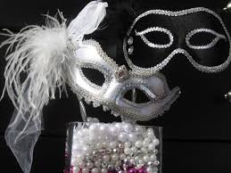 silver mardi gras mask and groom wedding mask set mardi gras masquerade style