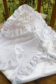 Baptism Blanket Personalized White Christening Blanket Personalized Christening Towel