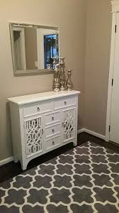 foyer decor white dresser mirror and 3accent pieces from