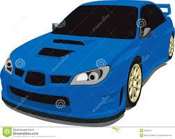 subaru blue blue subaru rally car stock vector image of headlight 8952879