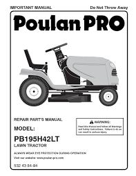 poulan pro pb195h42lt 960420123 by peças genuina vista
