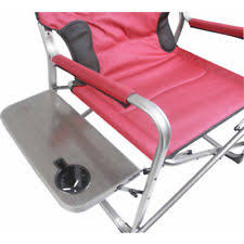 Tall Directors Chair With Side Table Ozark Trail Camping Furniture Directors Chairs Ebay