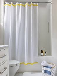 Yellow And White Shower Curtain 3 Easy Ways To Upcycle A Plain Shower Curtain Hgtv