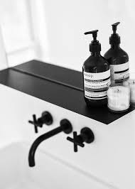 Matte Black Bathroom Faucet Bathroom Simple Lines Black And White Interior Design Styling Taps
