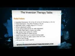 stamina products inversion table stamina inversion therapy table features youtube