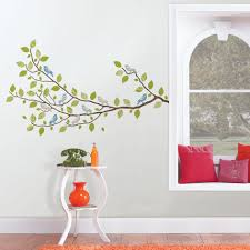 sitting in a tree branch wall art sticker kit