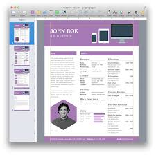 Resume Template 2014 Creative Resume Template For Pages Mactemplates Com