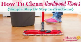 how to clean hardwood floors by