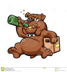 cartoon alcohol abuse cartoon drunk with a bottle stock photography image 21448262