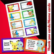 pokemon printable labelspokemon name cardspokemon