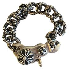 hearts bracelet images Silver silver chrome hearts bracelet vestiaire collective jpg