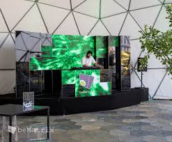 building a photo booth cabinet for the planet b party bematrix created this swinging dj booth with