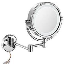 hardwired lighted makeup mirror 10x amazon com gurun 8 5 inch led lighted wall mount hardwired makeup
