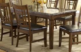 Granite Dining Room Tables by Furniture Black Marble Top Table With Brown Wooden Chair Using