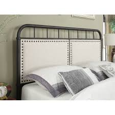 Black Panel Bed Pulaski All N One Queen Upholstered Metal Bed In Black Ds 2642 290