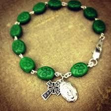 rosary bracelets rosary bracelet with shamrock