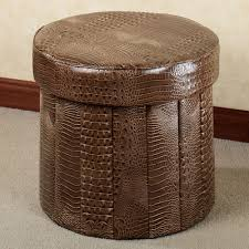Brown Ottoman Brown Large Storage Ottoman From Leather Of Wonderful