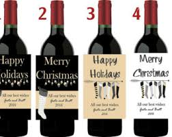 Christmas Wine Personalized Wine Labels Christmas Wine Labels Funny Wine