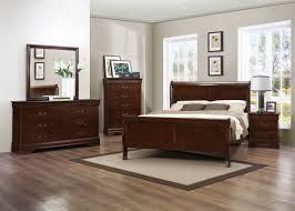 Cal King Bedroom Sets by Traditional 4pcs Louis Philippe Brown Cherry Cal King Bedroom Set