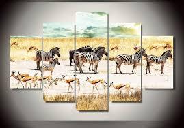 chambre de d馗ompression hd imprimé afrique zèbre paysage groupe peinture décoration de la