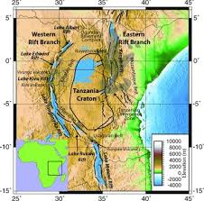 africa map elevation elevation map of east africa showing the locations of geological