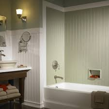small bathroom wood wainscoting vs subway tile in master bath