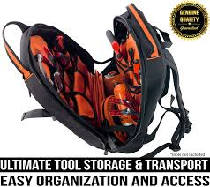 rugged tools tradesman tool backpack 28 pocket heavy duty