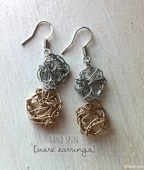 earrings diy spun wire earrings diy picklee
