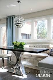 glamorous banquette seating dining room pictures inspiration
